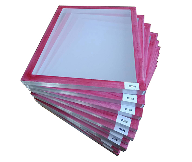 Red glue pre-stretched screen printing frame.jpg