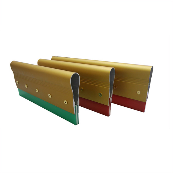 Single Durometer Aluminum Handle Rubber Squeegee